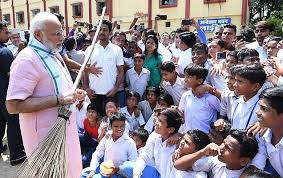 PM participates in Shramdaan at a school in Delhi